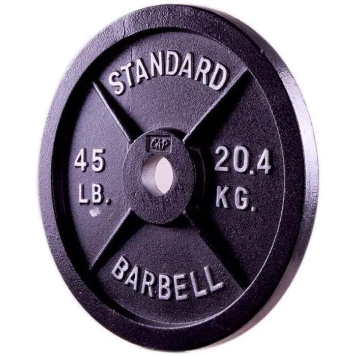 POIDS Plaques de poids de haute qualit&eacute Fer olympique 2 pouces fonte Grip Poids Plate, Barbell Halt&eacuterophilie Fai561