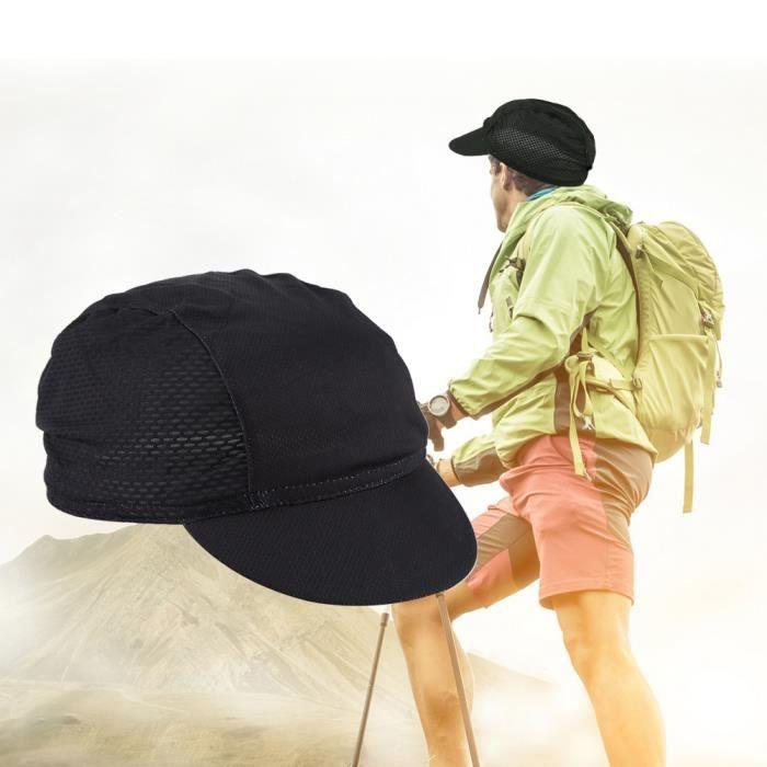 Casquette de vélo élastique pour l'extérieur, casquette de vélo en polyester, pour endommager les accessoires de sport et