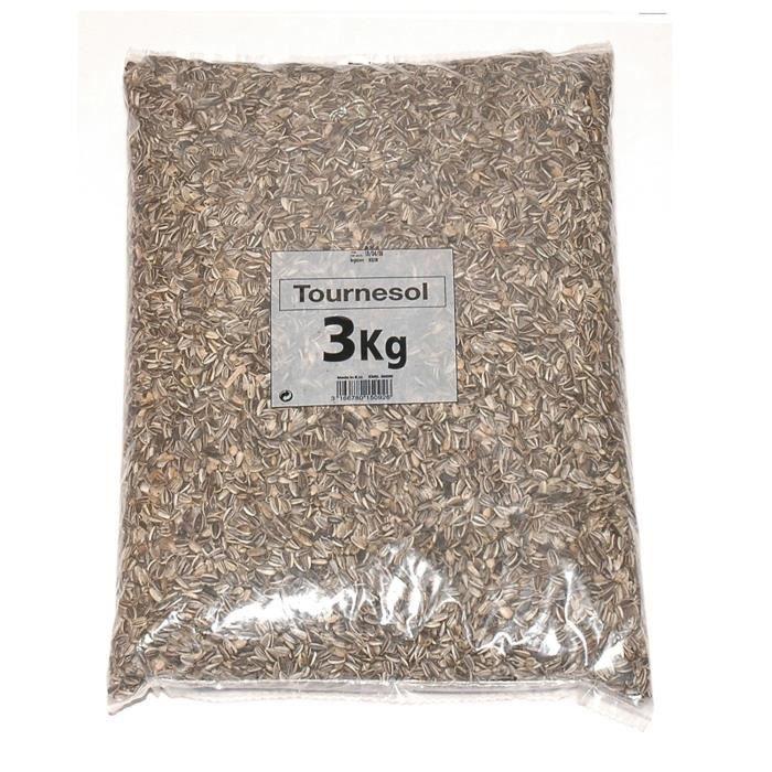 RIGA Graines de tournesol pour oiseaux 3 kg