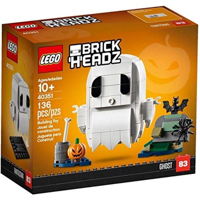 Jeu D'Assemblage LEGO BX58R BrickHeadz Halloween Fantôme 40351 Kit de construction (136 Pièces