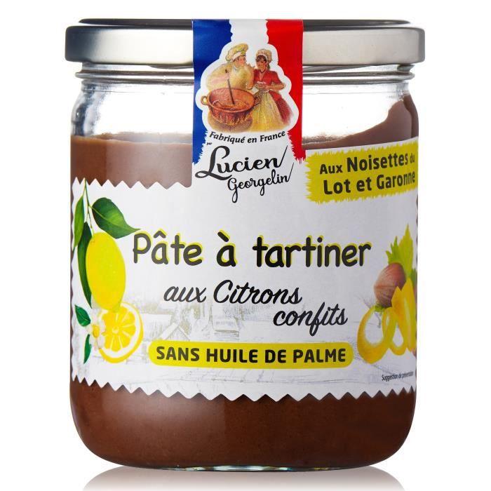 LUCIEN GEORGELIN Pâte à tartiner aux noisettes du Lot et Garonne et citrons confits - 400 g