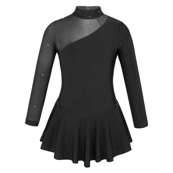 Robe de Patinage Fille Enfant Tutu Ballet Justaucorps de Gymnastique Académique Danse Robe Danse Classique Costume de Danse 4-12Ans