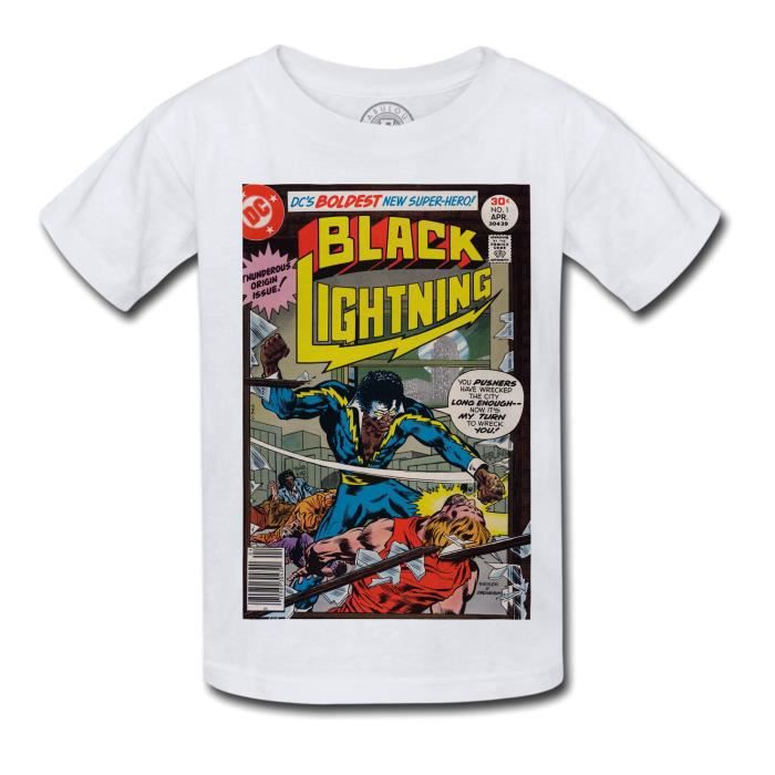 T-shirt Enfant Black Lightning Bande Dessinee Comics Super Hero