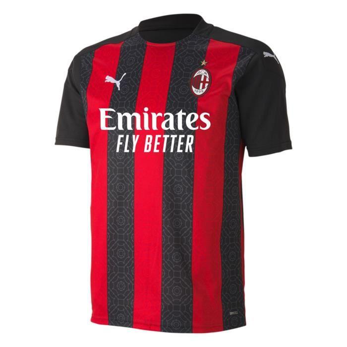 Maillot AC Milan - 2020-2021 Maillot de Football Home Jersey - Noir