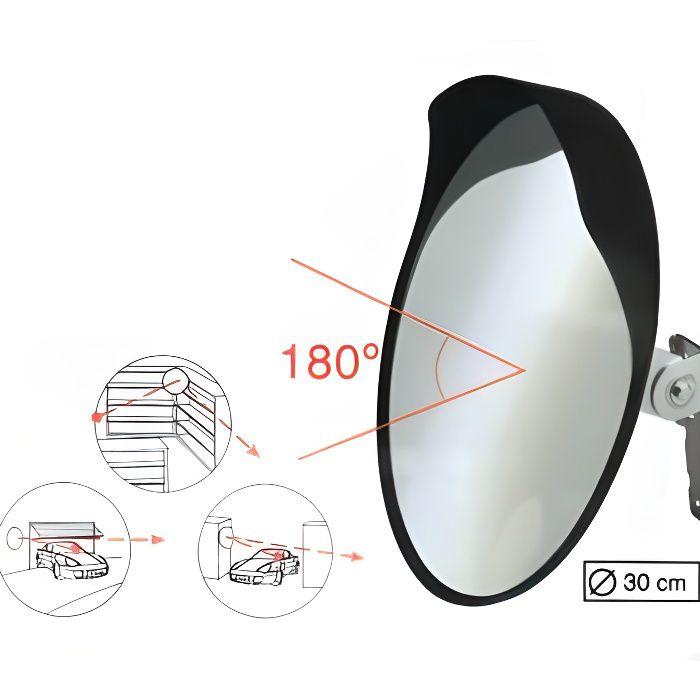 miroir convexe orientable diam. 30cm
