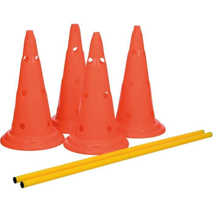 TRIXIE Lot de 2 Activités d'obstacle - Ø 30 × 50 cm - 100 cm - Orange et jaune - Pour chien