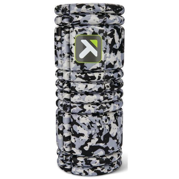 Rouleau de massage creux en mousse Grid 1.0 de TriggerPoint, soulage et libère les noeuds des tissus musculaires, Camouflage Gris