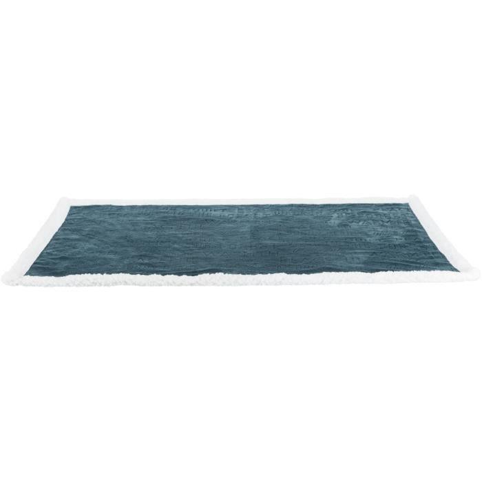 TRIXIE Couverture Paul - 100 × 70 cm - Bleu et blanc - Pour chien