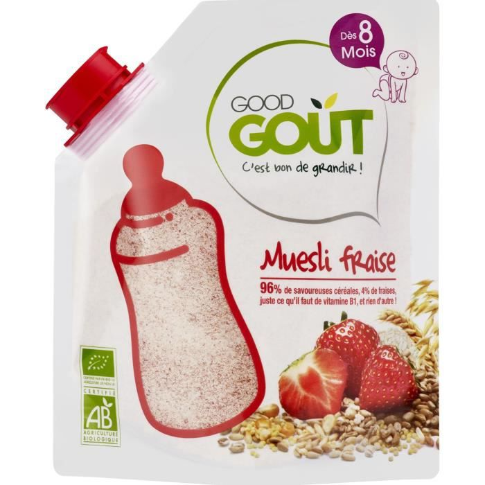 GOOD GOUT Muesli fraises BIO 200 g