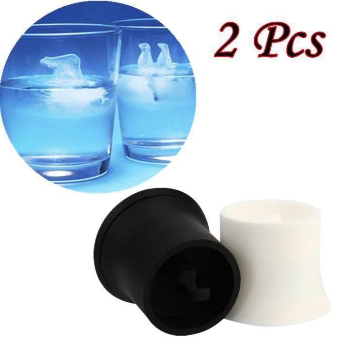 Bac à glaçons en silicone de qualité alimentaire balle de 4 x 2 pouces Moule