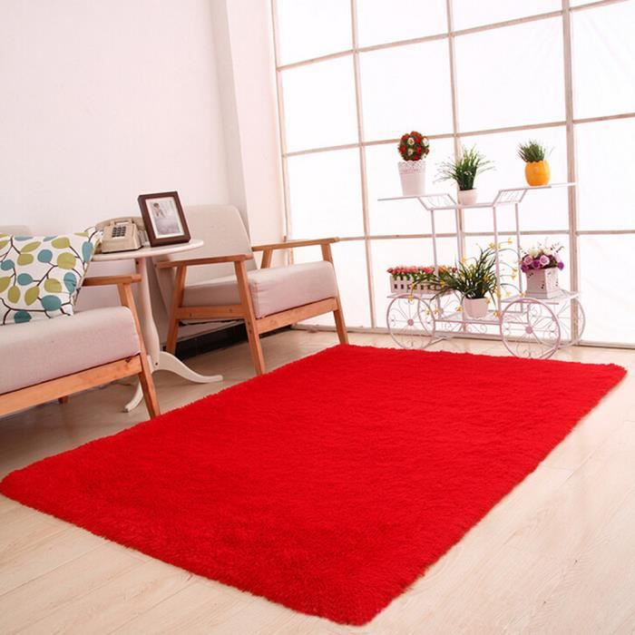 Tapis Moelleux Anti Skid Espace Shaggy Tapis Salle A Manger Chambre