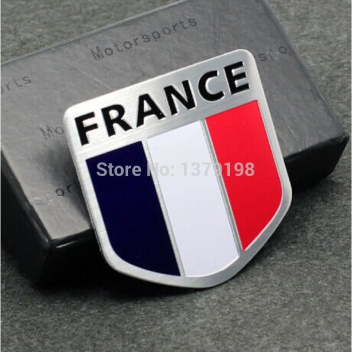 sticker 3d drapeau france en m tal pour voiture adh sif autocollant achat vente voiture. Black Bedroom Furniture Sets. Home Design Ideas