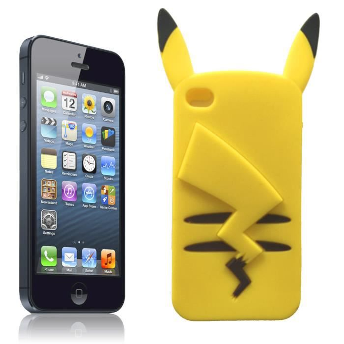 coque iphone 4 4s pikachu 3d en silicone souple achat coque bumper pas cher avis et. Black Bedroom Furniture Sets. Home Design Ideas