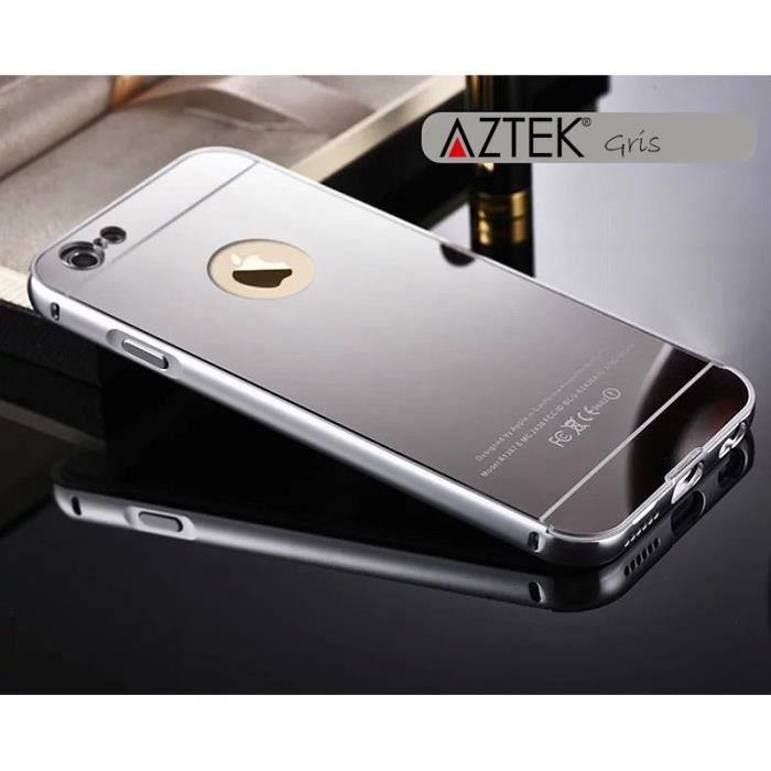aztek r coque iphone 6 6s 4 7 miroir or silv