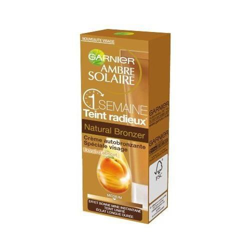 garnier ambre solaire natural bronzer cr me aut achat vente autobronzant garnier ambre. Black Bedroom Furniture Sets. Home Design Ideas