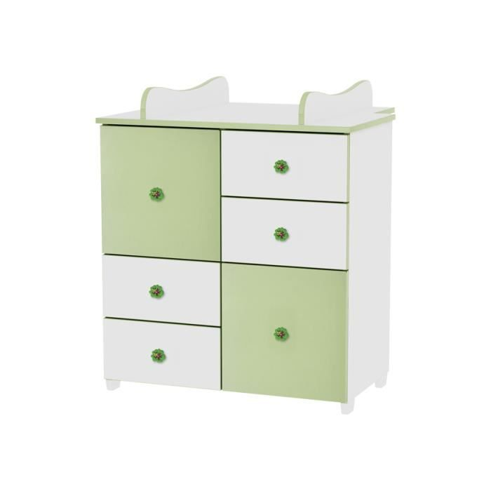 commode de langer pour chambre b b enfant vert achat vente commode b b 2009808891092. Black Bedroom Furniture Sets. Home Design Ideas