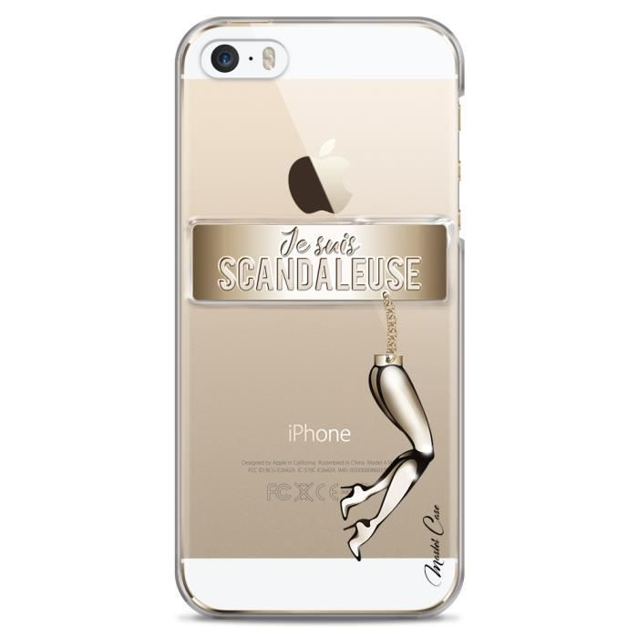 coque iphone 5 5s se transparente motif design de