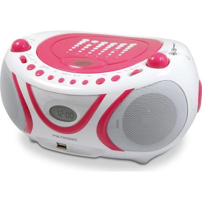 RADIO CD CASSETTE METRONIC Radio Cd-Mp3 Pop Pink