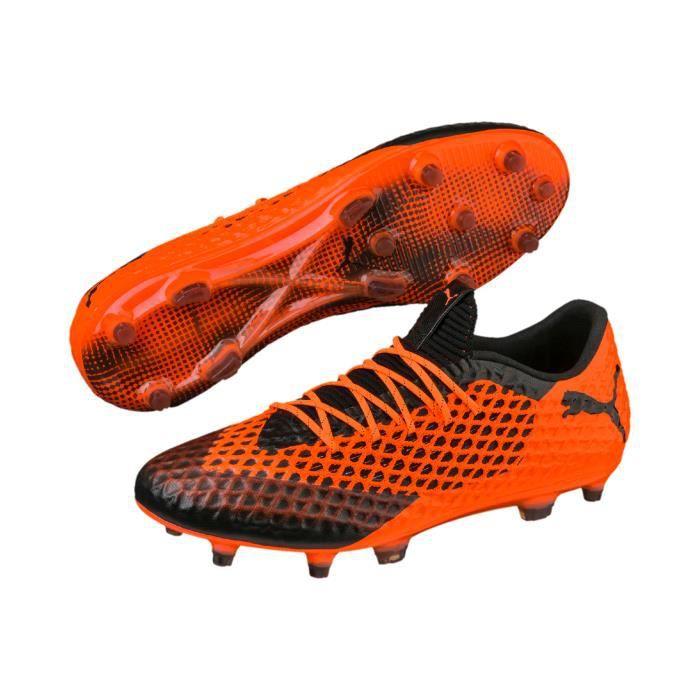 Chaussures football Puma Future 2.1 Netfit Low Orange Noir