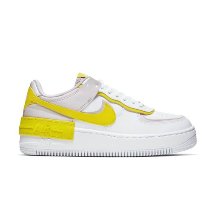 Baskets Nike Air Force 1 Shadow Speed Yellow Blanc - Cdiscount ...