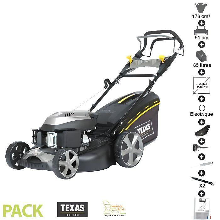 Tondeuse Thermique Tractee 173 Cc 4 3cv Demarrage Electrique 51cm Coupe Mulching Pack Accessoires Texas Rl515tr We Cdiscount Jardin