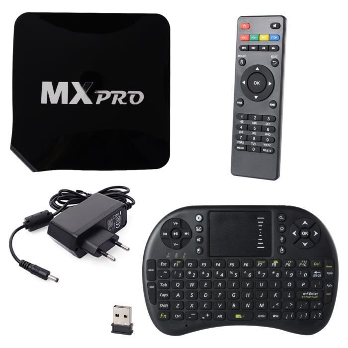 xcsource mx tv box quad core intelligent android 8gb lecteur xbmc wifi 1080p film clavier. Black Bedroom Furniture Sets. Home Design Ideas