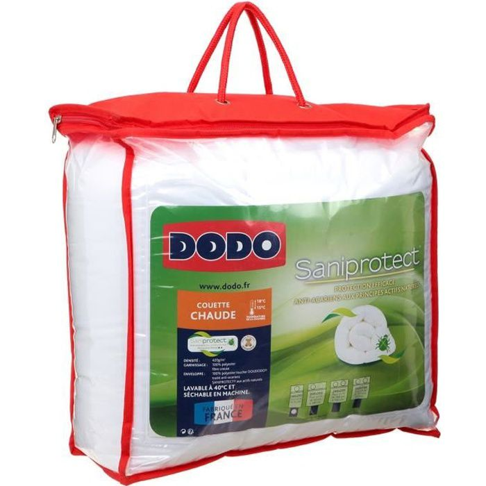 Dodo Couette Saniprotect 140 X 200 Cm Blanc Achat Vente