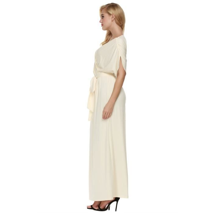 Womens Elegant Batwing Dolman Sleeve Classy Maxi Evening Dress 1LZI39 Taille-32