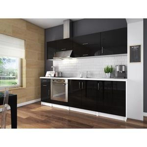 meuble cuisine laque noir achat vente meuble cuisine. Black Bedroom Furniture Sets. Home Design Ideas