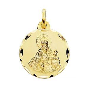 PENDENTIF VENDU SEUL Médaille pendentif Or 18 carats Vierge Rosario 18m