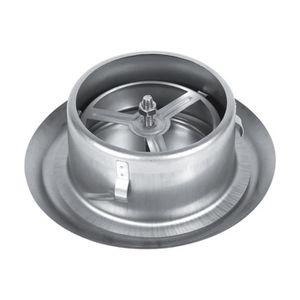 125mm Sortie d/'air Adjustable Ronde Murale Argent/ée Ventilation du plafond r/églable en Acier Inoxydable conduit de ventilation ronde