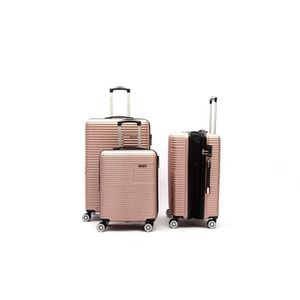 SET DE VALISES LYS Set de 3 Valises Extensible Rose gold Rigide A