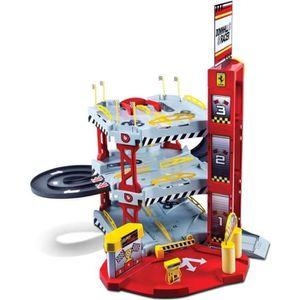 UNIVERS MINIATURE BURAGO Garage Ferrari 3 Niveaux et une voiture 1/4
