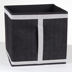 CASIER POUR MEUBLE Cube pliable en carton recouvert de tissu polyeste