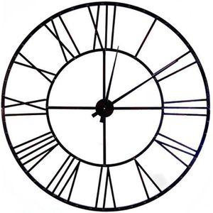 HORLOGE - PENDULE INDIE Horloge murale industrielle  Ø110 cm noir