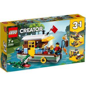 ASSEMBLAGE CONSTRUCTION LEGO® Creator 3-en-1 31093 - La Péniche Au Bord du