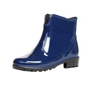 Bottes court eau imperméable Bottes de pluie femmes Chelsea