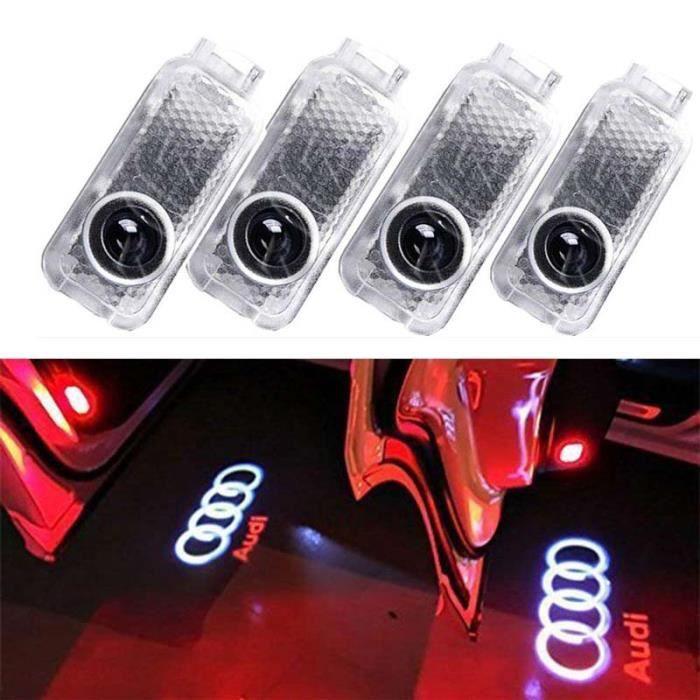 4pcs Voiture LED Projecteur Lumière Bienvenue Pour Porte de voiture décoratifs entrée Logo de projection Lumières