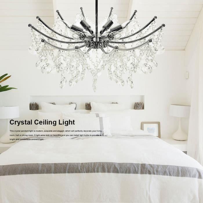 Moderne 6 bras K9 cristal plafonnier lustre suspension lampe luminaire chambre décor HB047 - Vente Chaude