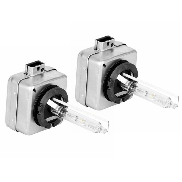 WIPES Duokon 2 Pièces Phare de Voiture 12V D1S Ampoule Xénon Brillant (6000K 35W)Blanc