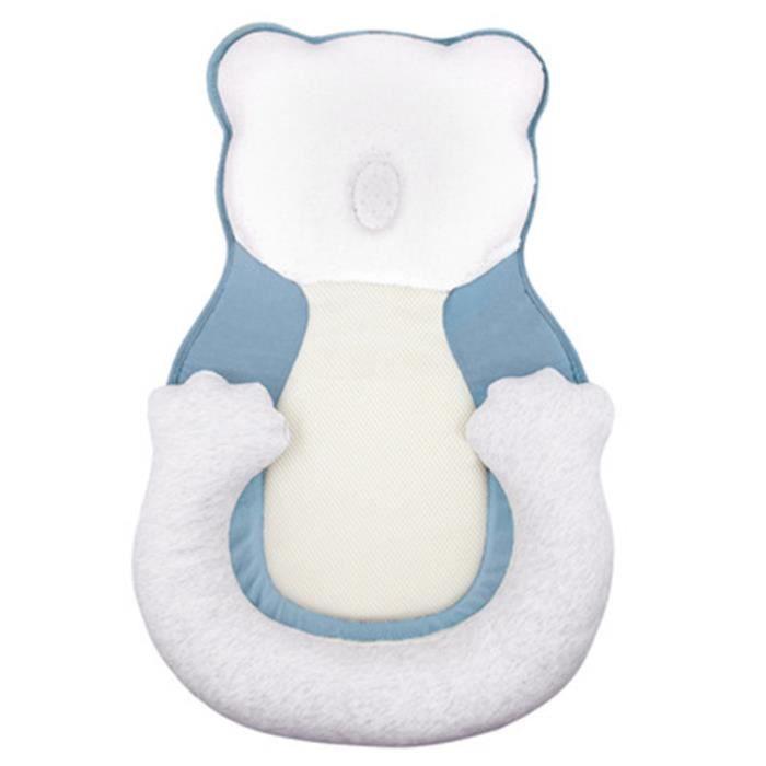 bleu Berceau Portable et ajustable pour bébé, berceau de voyage, en coton, livraison directe Oreiller en mousse viscoélastique