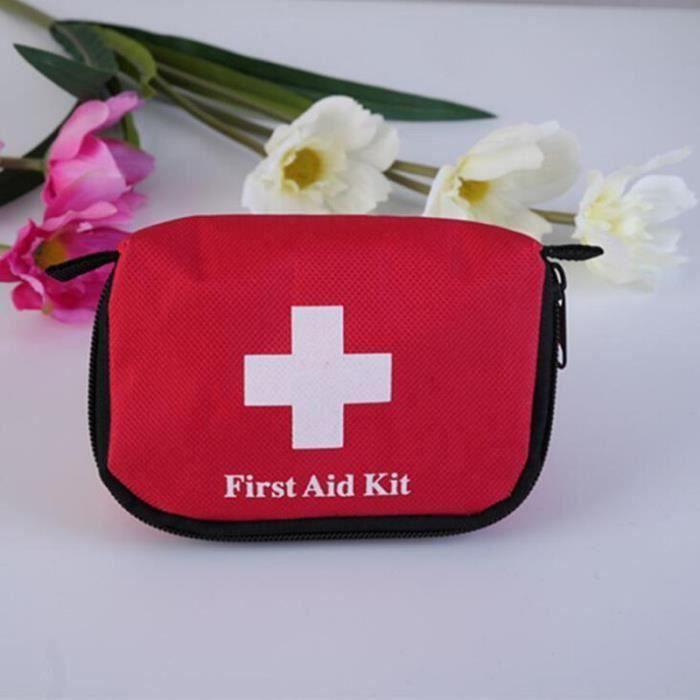 1lot trousses de premier soin d'urgence secours médicale pour camping sport randonnée safty traitement en voiture G0330