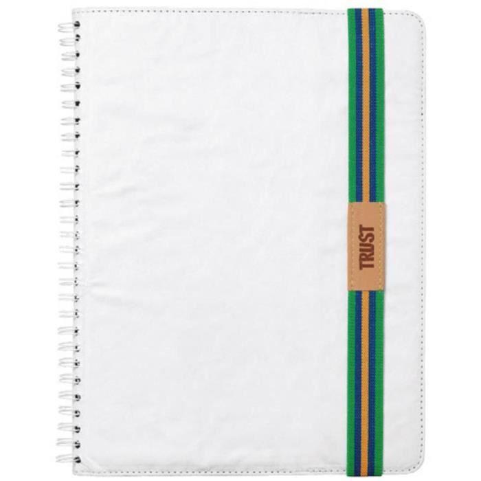 TRUST Writable Housse Folio Univ pour Tablette 7/8'' - Blanc
