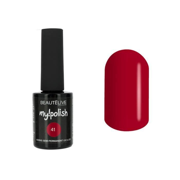 Beautélive Vernis à ongles semi permanent 41 - Rouge noir , 15ml Ongle