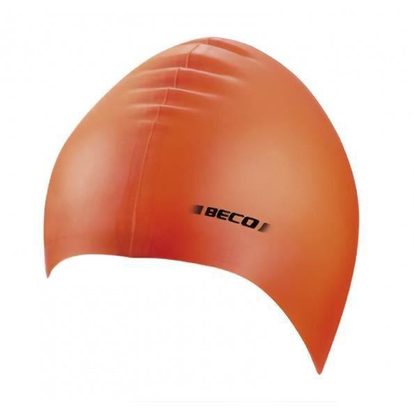 Beco bonnet de bain unisexe silicone orange taille unique