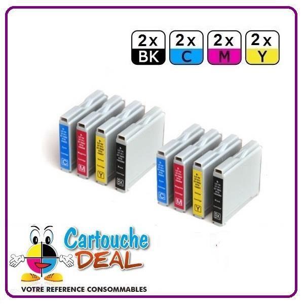 Lot 8 Cartouches générique compatible BROTHER LC970 LC1000