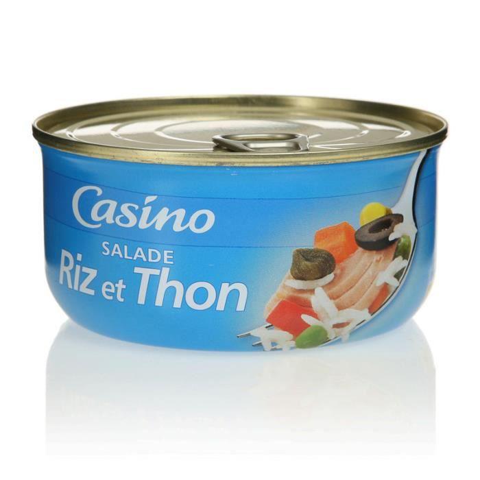 Salade riz au thon 250g - Ingédients : légumes: 50% de légumes verts, carottes coupées, navets coupés