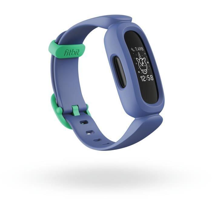 FITBIT Ace 3 - Bracelet connecté enfant - Bleu cosmique - Vert astral