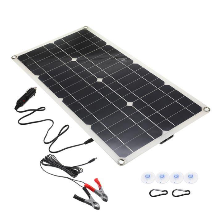 1 ensemble de panneau solaire pliable d'alimentation kit photovoltaique - kit solaire genie thermique - climatique - chauffage