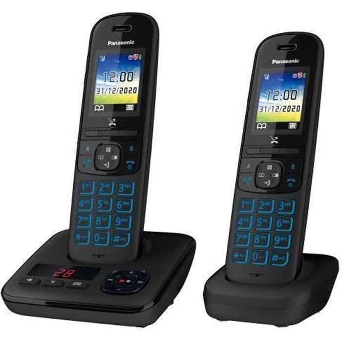 Téléphone sans fil Panasonic KX-TGH722 Noir
